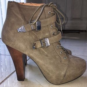 Charlotte Russe Buckled Ankle Boots